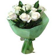 Букет из 9 белых роз - цветы и букеты на salonroz.com