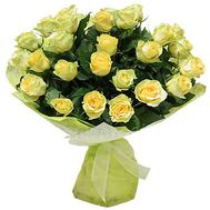 Bouquet of 35 yellow roses - flowers and bouquets on salonroz.com