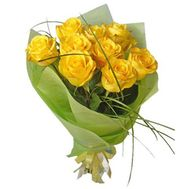 Bouquet of 9 yellow roses - flowers and bouquets on salonroz.com