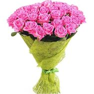 Bouquet of 45 pink roses - flowers and bouquets on salonroz.com