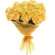Bouquet of 21 yellow roses - flowers and bouquets on salonroz.com