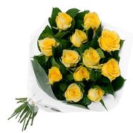 Bouquet of 13 yellow roses - flowers and bouquets on salonroz.com