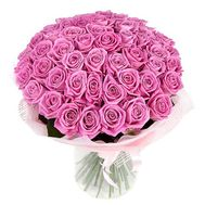 Bouquet of 55 pink roses - flowers and bouquets on salonroz.com
