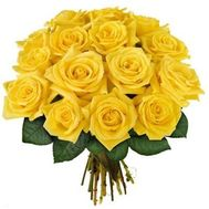 Bouquet of 15 yellow roses - flowers and bouquets on salonroz.com