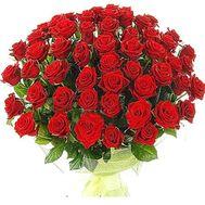 Букет із 65 червоних троянд - цветы и букеты на salonroz.com