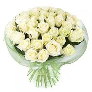 Bouquet of 45 white roses - flowers and bouquets on salonroz.com