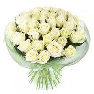 Букет из 45 белых роз - цветы и букеты на salonroz.com