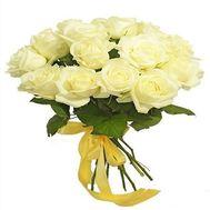 Букет из 17 белых роз - цветы и букеты на salonroz.com