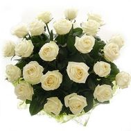 Bouquet of 21 white roses - flowers and bouquets on salonroz.com