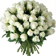 Bouquet of 65 white roses - flowers and bouquets on salonroz.com