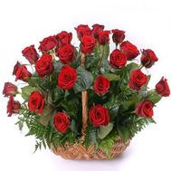 Basket of 25 red roses - flowers and bouquets on salonroz.com