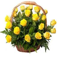 Basket of 31 Yellow Roses - flowers and bouquets on salonroz.com