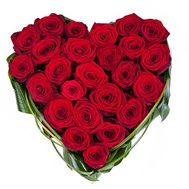 25 red roses - flowers and bouquets on salonroz.com