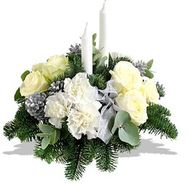 New Year composition - flowers and bouquets on salonroz.com