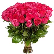 Bouquet of 35 pink roses - flowers and bouquets on salonroz.com
