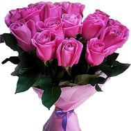 Bouquet of 15 pink roses - flowers and bouquets on salonroz.com