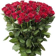 Bouquet of 55 red roses - flowers and bouquets on salonroz.com