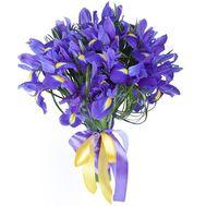 Букет из 23 ирисов с лентой - цветы и букеты на salonroz.com