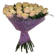 Букет із 23 кремових троянд - цветы и букеты на salonroz.com
