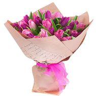Букет із 37 рожевих тюльпанів - цветы и букеты на salonroz.com