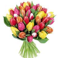 Букет із 41 тюльпана - цветы и букеты на salonroz.com