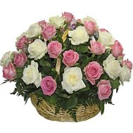 Basket of 41 roses - flowers and bouquets on salonroz.com