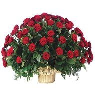 Basket of 101 red roses - flowers and bouquets on salonroz.com