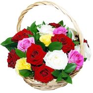 Basket of 17 roses - flowers and bouquets on salonroz.com