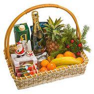 Подарочная новогодняя корзина - цветы и букеты на salonroz.com