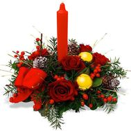 New Year's composition - flowers and bouquets on salonroz.com
