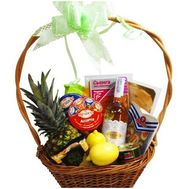 Basket of products for gift - flowers and bouquets on salonroz.com