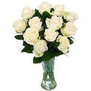Bouquet of 11 white roses - flowers and bouquets on salonroz.com