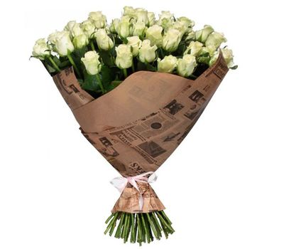 """""""A bouquet of 51 white roses"""" in the online flower shop salonroz.com"""