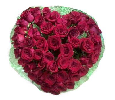 """""""Сердце из импортных роз"""" в интернет-магазине цветов salonroz.com"""