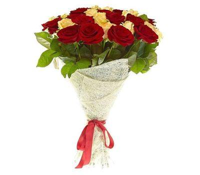 """""""Букет из 25 белых и красных роз"""" в интернет-магазине цветов salonroz.com"""