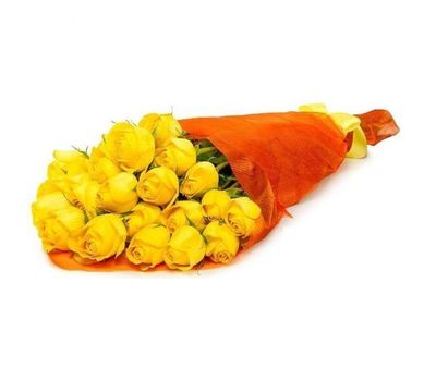 """""""Bouquet of 23 yellow roses"""" in the online flower shop salonroz.com"""