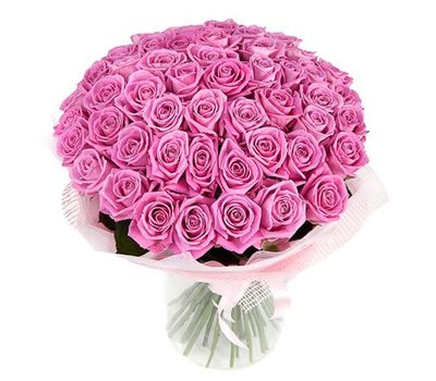 """""""Bouquet of 55 pink roses"""" in the online flower shop salonroz.com"""