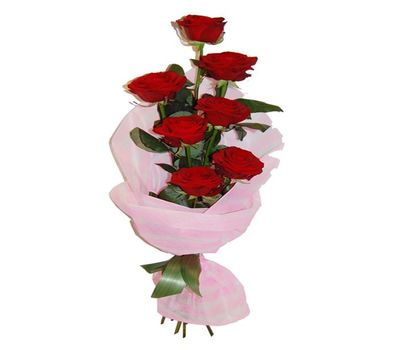 """""""Bouquet of 7 red roses"""" in the online flower shop salonroz.com"""