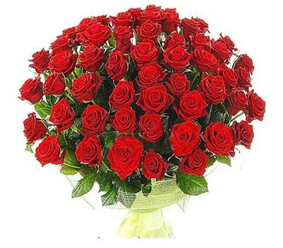 """""""Bouquet of 65 red roses"""" in the online flower shop salonroz.com"""