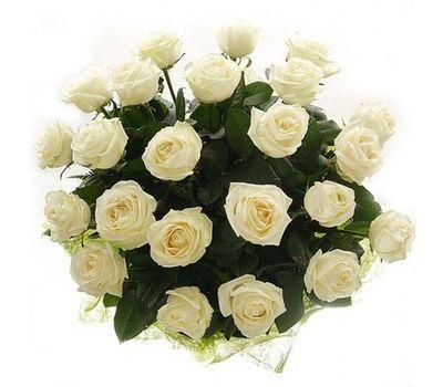 """""""Букет из 21 белой розы"""" в интернет-магазине цветов salonroz.com"""