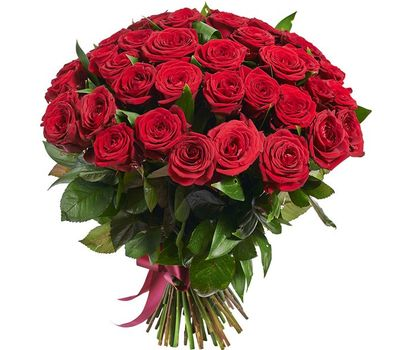 """""""Bouquet of 45 red roses"""" in the online flower shop salonroz.com"""