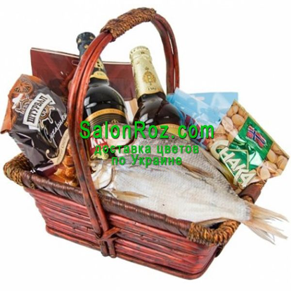 u201cMenu0027u0027s gift basket with fish and beeru201d in the online flower  sc 1 st  ???????? ?????? & Buy ???menu0027s gift basket with fish and beer??? with delivery ...