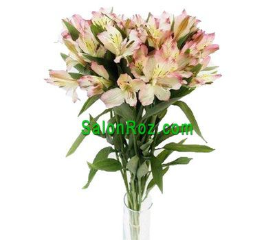 """Bouquet of 7 different colored alstroemerias"" in the online flower shop salonroz.com"