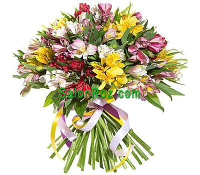 """""""Букет цветов из 35 альстромерий"""" в интернет-магазине цветов salonroz.com"""