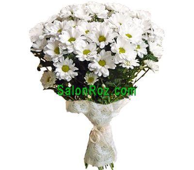 """""""Букет из 11 белых хризантем"""" в интернет-магазине цветов salonroz.com"""