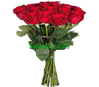 """Bouquet of 19 imported roses"" in the online flower shop salonroz.com"