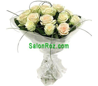 """Bouquet of roses - Pure tear"" in the online flower shop salonroz.com"
