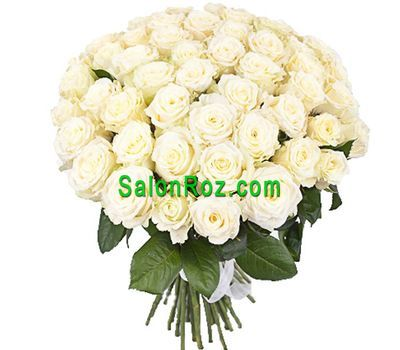 """Bouquet of 55 white roses"" in the online flower shop salonroz.com"