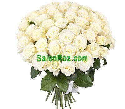 """""""Букет из 55 белых роз"""" в интернет-магазине цветов salonroz.com"""