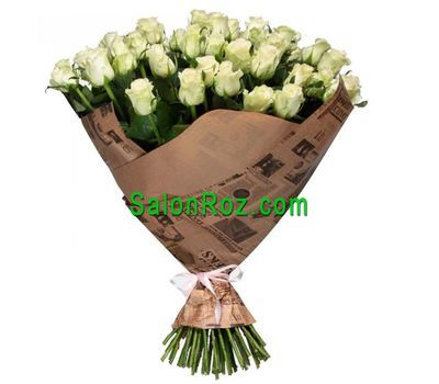 """A bouquet of 51 white roses"" in the online flower shop salonroz.com"